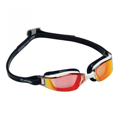 Очки для плавания Phelps XCEED RED TITANIUM MIRROR